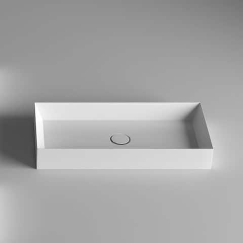 """WS Bath Collections 60.38 Track 23-3/5"""" Vessel Sink - White Gloss"""
