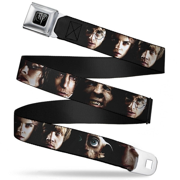 Harry Potter Logo Full Color Black White Harry Potter 8 Character Faces Seatbelt Belt