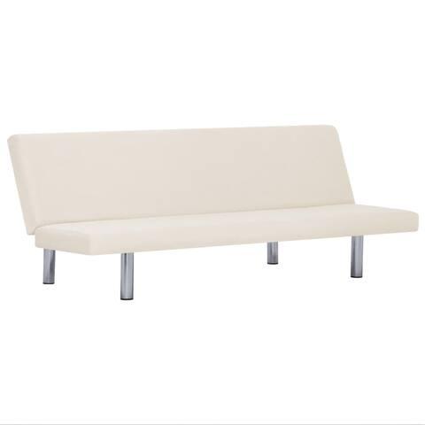 vidaXL Sofa Bed Cream Fabric
