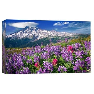 """PTM Images 9-102173  PTM Canvas Collection 8"""" x 10"""" - """"Mountain Garden"""" Giclee Forests and Mountains Art Print on Canvas"""