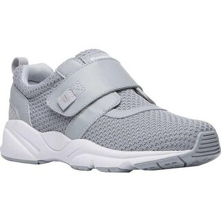 Propet Women's Stability X Hook and Loop Sneaker Light Grey Mesh