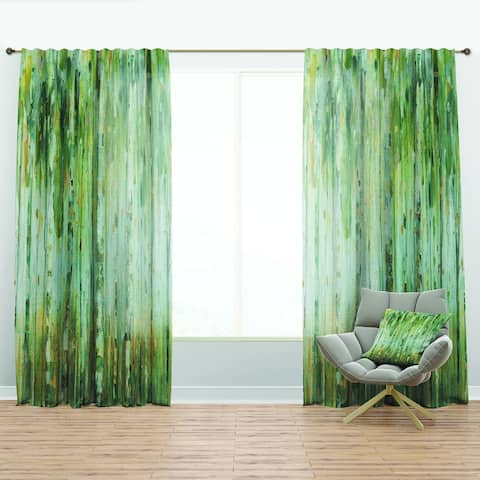 Designart 'The birch Forest II' Traditional Curtain Panel