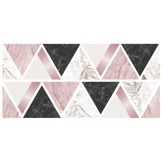 Brewster TWS42384  Fun4Walls Triangles Wall Decorating Kit - Set of (2) - Multi-Color