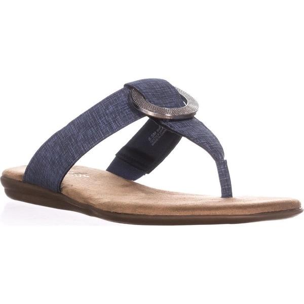 Aerosoles Supper Chlub Thong T-Strap Flat Sandals, Denim