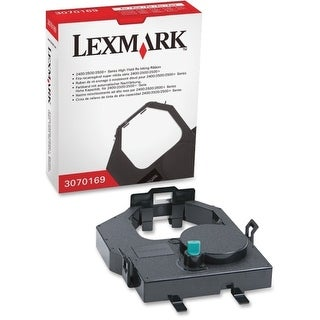 Lexmark 3070169 Lexmark High Yield Re-Inking Ribbon - Black - Dot Matrix - 8 Million Characters - 1 Each