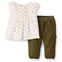 Carter's Baby Girls' 2 Piece Tunic Set (Baby) - Olive - 9 Months