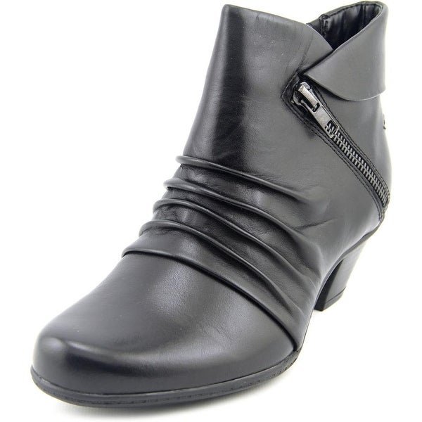 Earth Pegasus Women Round Toe Leather Black Bootie