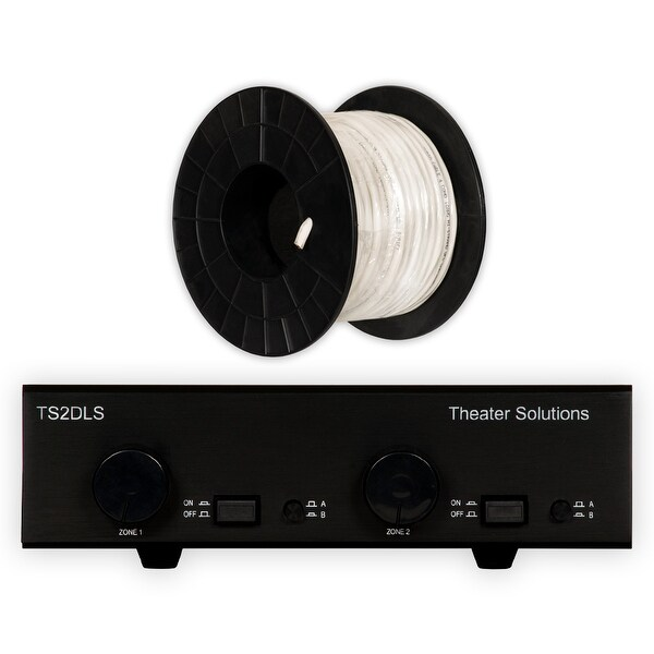 Theater Solutions TS2DLS Speaker Selector Box with Dual Source & C100-16-4 Wire