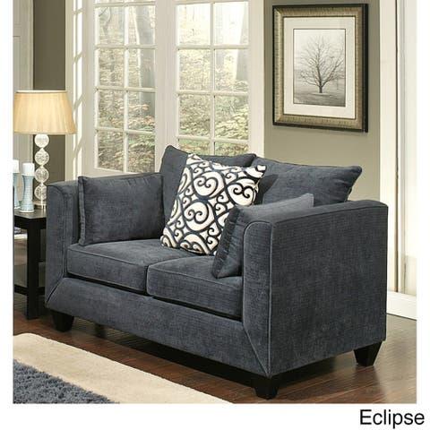 Furniture of America Siba Modern Chenille Upholstered Loveseat
