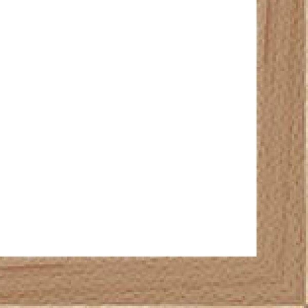 """Canvas Floater Frame Moulding (Wood) - Contemporary Natural Finish - 1.5"""" width - 7/8"""" rabbet depth"""