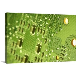 """Close up of microchip"" Canvas Wall Art"