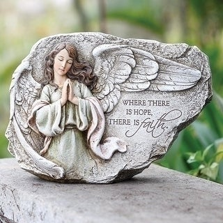 "11"" Joseph's Studio Praying Angel with Inspirational Quote Religious Outdoor Garden Statue"