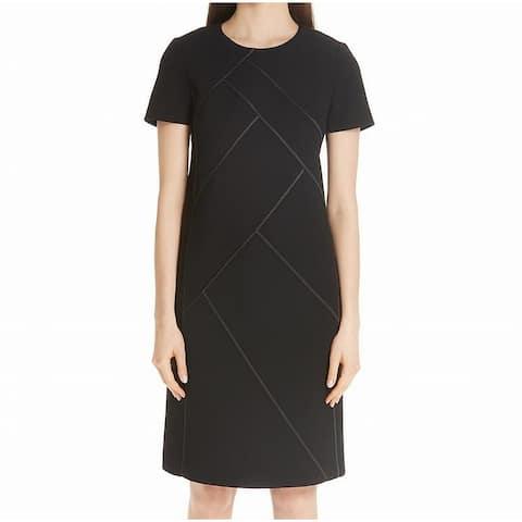 Lafayette York Womens Small Crewneck Sheath Dress 937