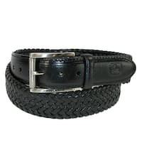 John Deere Men's Leather Braided Stretch Belt