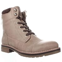 Tommy Hilfiger Omar2 Knit Top Combat Boots, Taupe Multi
