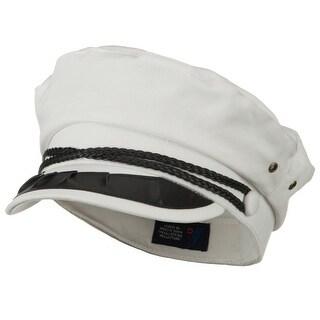 String Band Captain Hat - White