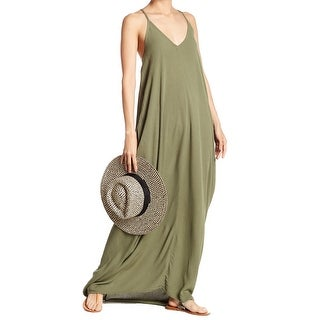 b00a6fb8d26 Shop Lovestitch Green Womens Size Medium M V-Neck Gauze Maxi Dress - Free  Shipping On Orders Over $45 - Overstock - 28246755