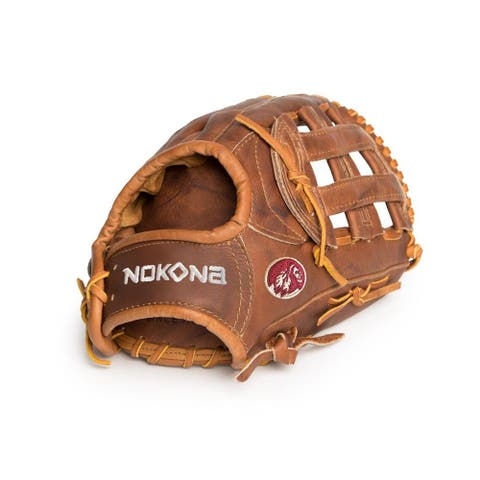 Nokona/ W-1175/R 11.75-inch Walnut H Web Left-handed Baseball/ Softball Glove