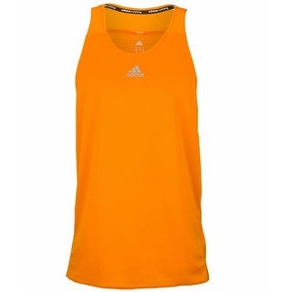 Adidas NEW Orange Mens Size XL Climalite Athletic Running Tank Top
