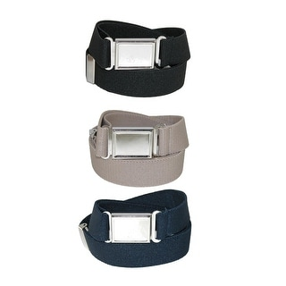 CTM® Kids' Elastic Adjustable Belt with Magnetic Buckle (Pack of 3 Colors) - One Size