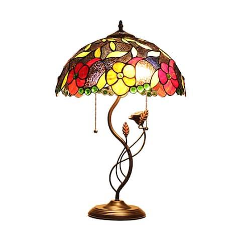Tiffany-Style Victorian Design 2-light Oil Rubbed Bronze Table Lamp