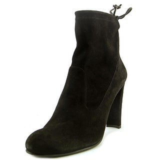 Stuart Weitzman Glove Women  Round Toe Suede Black Ankle Boot