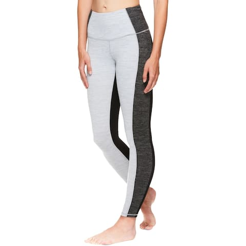 Gaiam Womens Houston Athletic Leggings High-Rise Fitness - Charcoal Heather