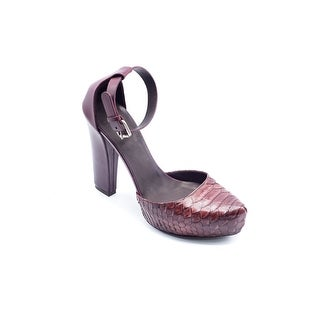 Brunello Cucinelli Womens Brown Pointed Toe Python Embossed Pumps - 9
