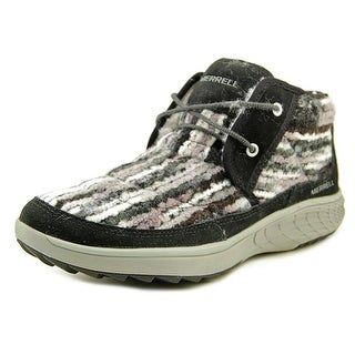 Merrell Pechora Women Round Toe Canvas Black Sneakers