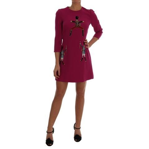Dolce & Gabbana Pink Wool Stretch Pupi Di Teatro Women's Dress - it42-m