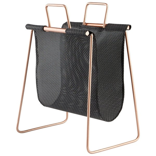 """Cyan Design Handle It Magazine Rack Handle It 19.25"""" Tall Poly and - Black and Gold"""
