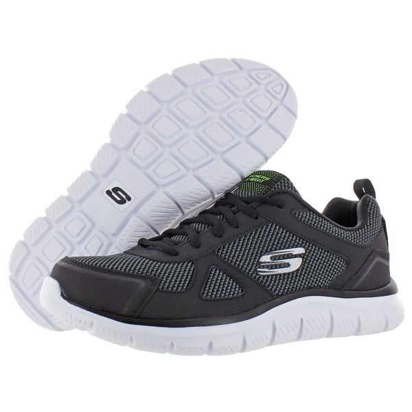 Shop Skechers Mens Track Bucolo Running Shoes Leather Memory