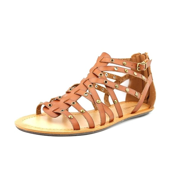 Nine West Attractir Women Open Toe Synthetic Brown Gladiator Sandal