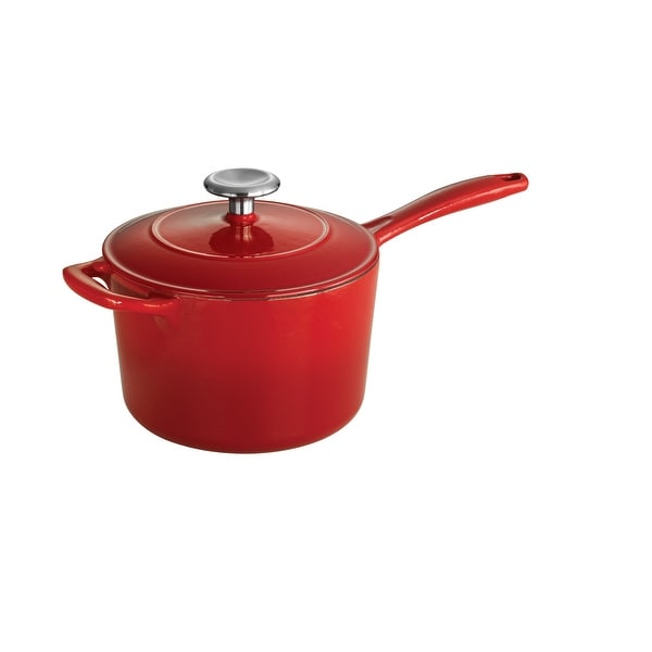 Tramontina 2.5 Qt Enameled Cast-Iron Series 1000 Covered Sauce Pan - Gradated Red. Opens flyout.