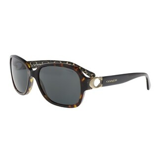 Coach HC8241 550787 Dark Tortoise Rectangle Sunglasses - 57-17-140