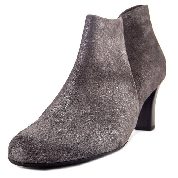 Gabor 95.660 Women Round Toe Leather Gray Bootie