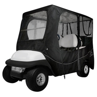 Fairway Golf Cart Deluxe Enclosure Long Roof - Black - 40-055-340401-00