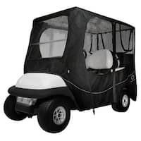 Fairway Golf Cart Deluxe Enclosure Long Roof - Black - 40-055-340401-00