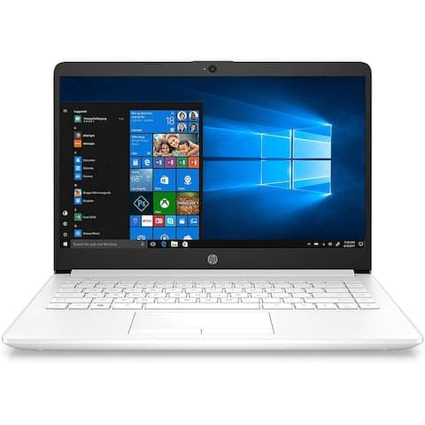 "Refurbished HP Notebook 14-cf1012ds Intel Pentium Gold 5405U 4GB 64GB eMMC 14"" White"