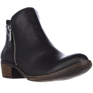 Lucky Brand Basel Side Zip Ankle Boots, Black