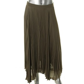 Vince Camuto Womens Sheer Pleated Broomstick Skirt