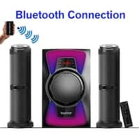 Boytone BT-424F, 2.1 Bluetooth Powerful Home Theater Speaker System, with FM Radio, SD USB ports, 50 Watts, Disco Light, Remote