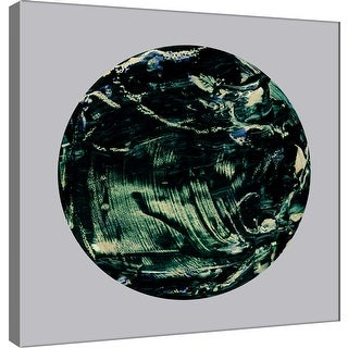 "PTM Images 9-101108  PTM Canvas Collection 12"" x 12"" - ""Painterly Circle on Grey K"" Giclee Abstract Art Print on Canvas"