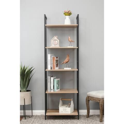 Light Oak Finish Narrow Bookcase
