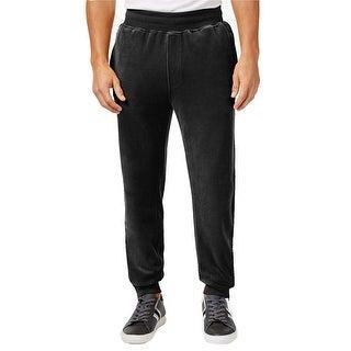 Sean John NEW Men's Black Size 2XL Pull-On Drawstring Velour Track Pants