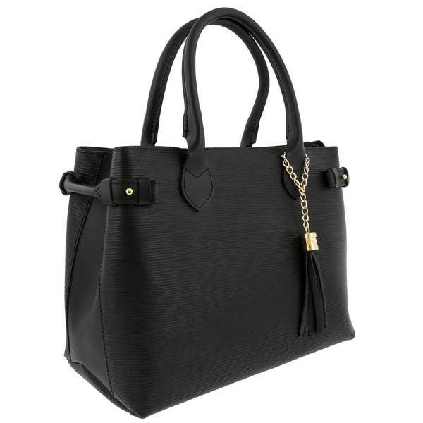 HS Collection HS8435 NR LIZA Black Satchel/Shoulder Bag - 13-10-6