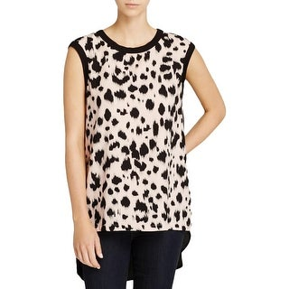 Karen Kane Womens Tank Top Printed Hi-Low