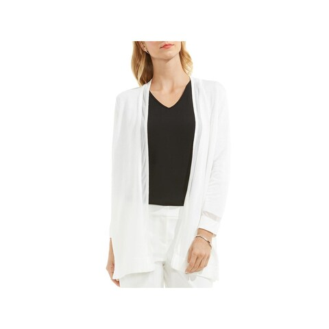 Vince Camuto Womens Cardigan Sweater Knit Illusion