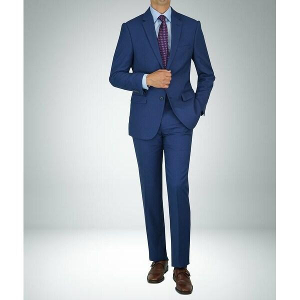 Carlo Studio Birds eye Blue on Blue Modern-Fit Suit