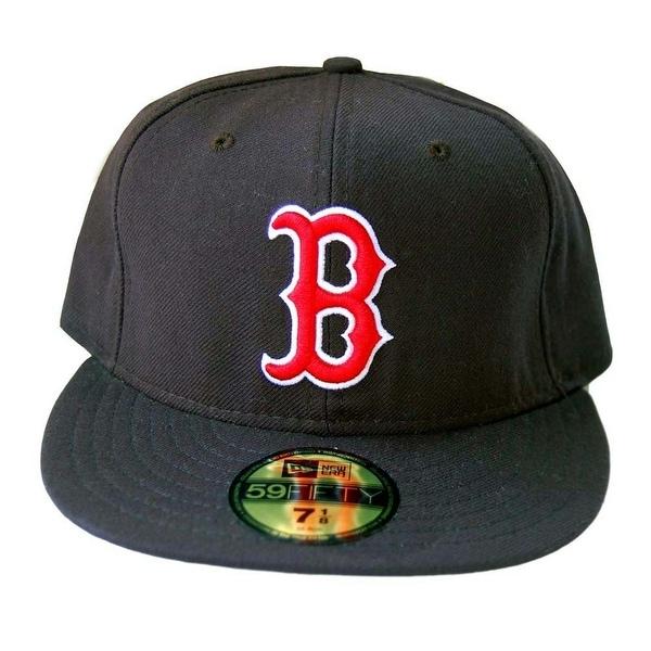 c2ac6f52b ... cheapest mlb boston red sox new era 59fifty black flatbill fitted hat  eb0ef 44100